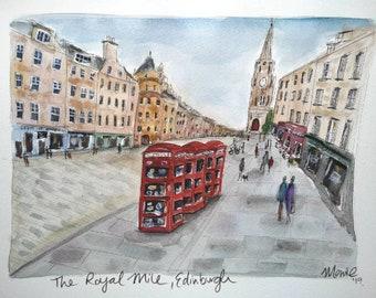 Downloadable PRINT EDINBURGH Royal mile