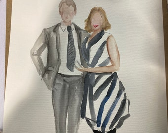 Personalised ILLUSTRATION, watercolour PORTRAIT commissions couple or individuals