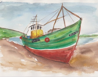 Downloadable PRINT colourful BOAT