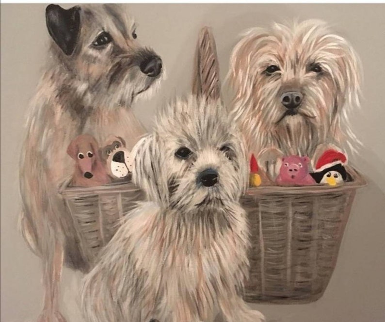 Custom pet portraits custom Dog portrait pet commission image 0