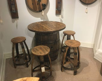Bourbon Barrel Pub Table Set