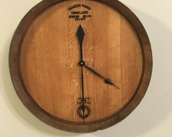 Wine Barrel Head Wall Clock