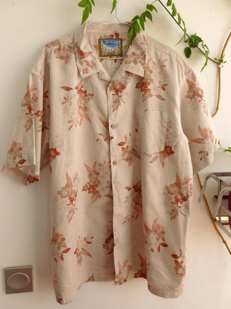 size L Orange tones hawaiian shirt