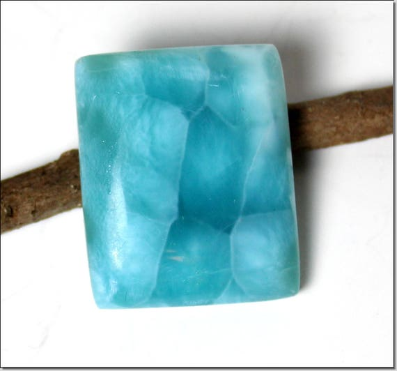 Biggest 1.1 inch Unusual Pattern Natural Genuine Volcanic Blue AAA++ Larimar Cabochon 28x23x8mm 12.5g  C-29-1800
