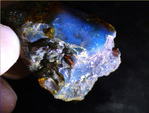 Dominican Natural Clear Sky Blue Amber Rough Specimen 44x30x28mm 18.5g