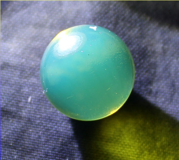 Dominican Natural Crystal Clear Blue Green Amber Sphere Round Bead 12.8mm free drilling