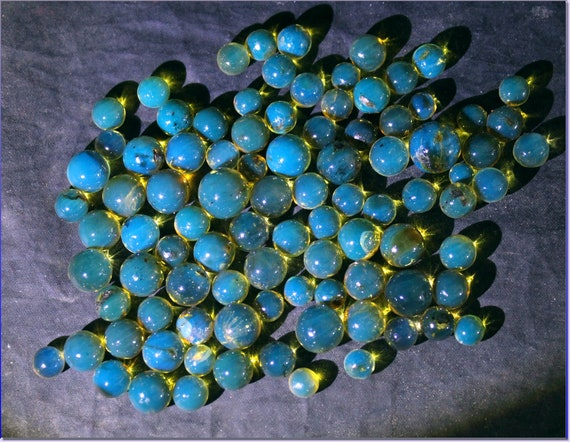 Lot 6-11mm Dominican Natural Clear Sky Blue Amber Sphere Round Beads 22.9grams free drilling