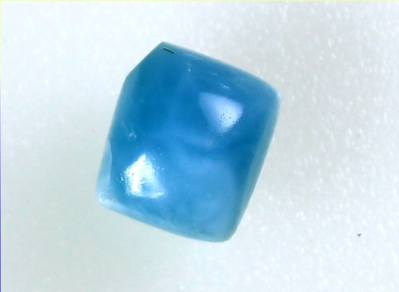 Lovely Natural Volcanic Blue Larimar Cabochon 11x10x7mm