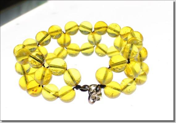 "Dominican Clear Orange Green Amber .925 Sterling Silver Bracelet 7.8""  C-04-1634"