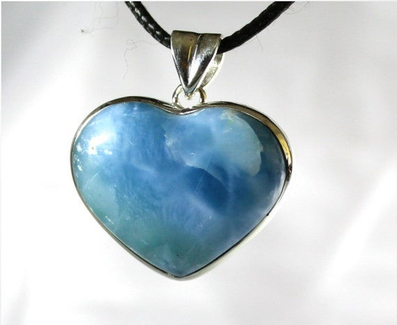 Stunning 1.4 inch Royal Blue AAA++ Larimar .925 Sterling Silver Pendant 81ct