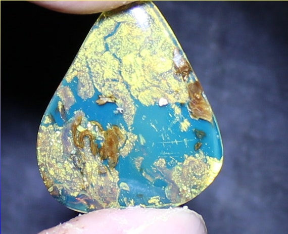 Exquisite Dominican Natural Clear Sky Blue Amber Cabochon 25x22x5mm