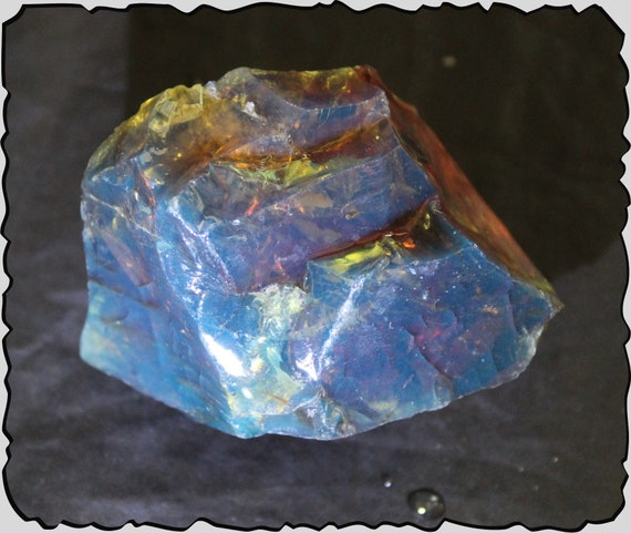 Outstanding Piece of Dominican Natural Clear Sky Blue Amber Rough Specimen 55x45x33mm 26.4g