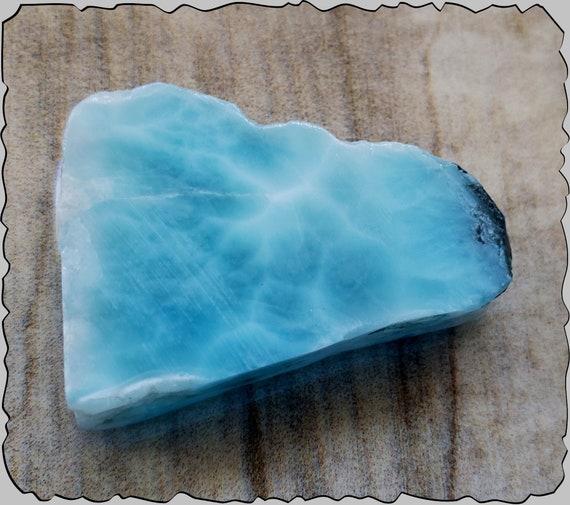 Charming Design Natural Sky Blue Larimar Slab 39x26x10mm 21g