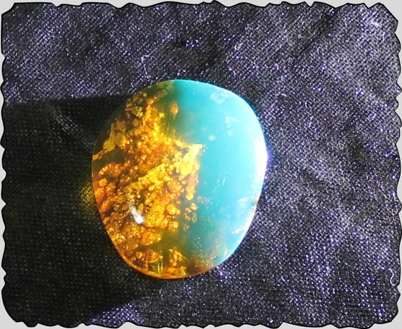 Outstanding Dominican Natural Crystal Clear Sky Blue Amber Cabochon 19x16x5mm 5ct