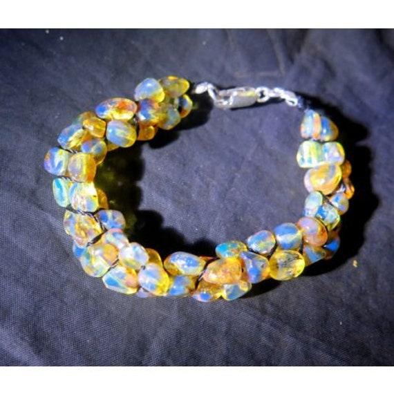 Dominican sky blue amber bracelet 200mm