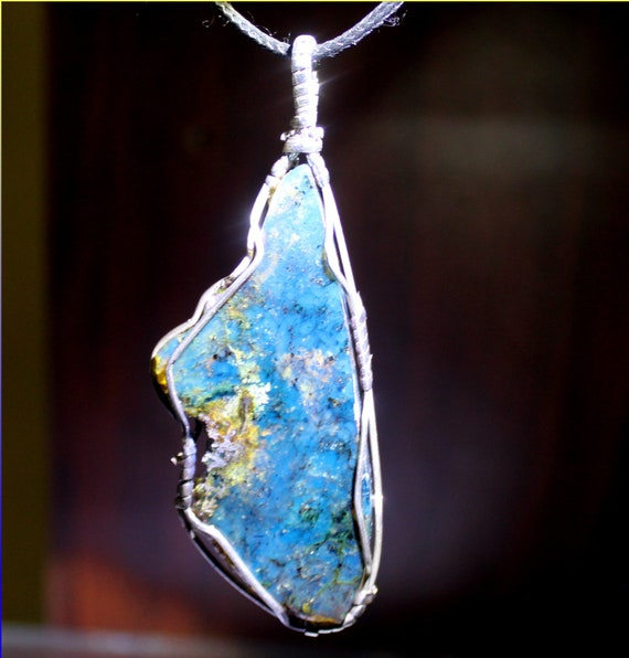 Biggest 3.3inch Dominican Natural Clear Deep Blue Amber .925 Sterling Silver Pendant