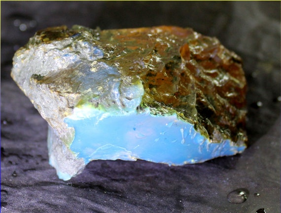 Premium Dominican Crystal Clear Sky Blue Amber Rough Specimen 44 grams w. video