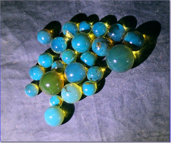 Lot 23 Dominican Natural Clear Sky Blue Amber Sphere Round Beads 4.5grams free drilling 5.5-11.5mm