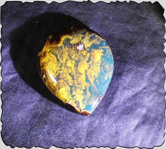 Excellent Natural Clear Sky Blue Amber Pendant polished stone 1.2 inch 18.5ct