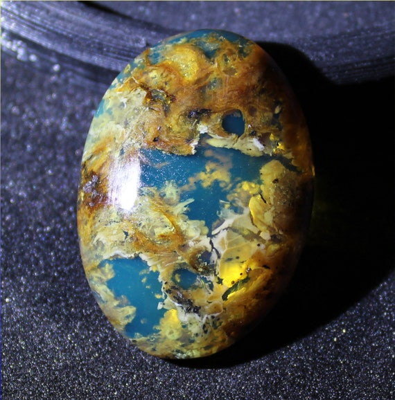 Outstanding Dominican Natural Translucent Sky Blue  Amber Oval Cabochon 32x23x9mm 20carats