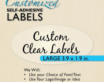44c548c761e 20+ CUSTOM CLEAR Oval Sticker
