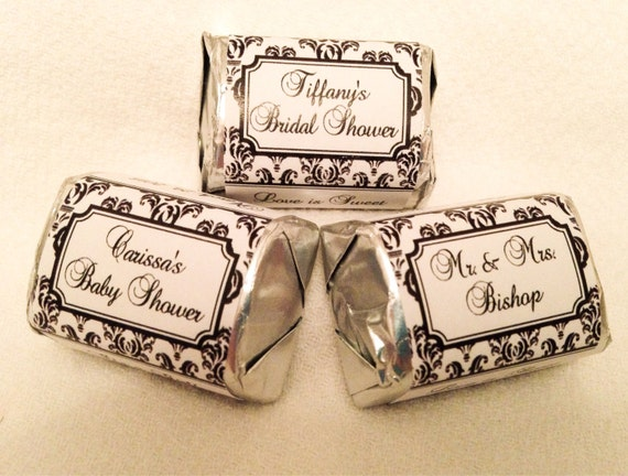 Custom 2 x 3.25 Oval Labels Damask-Wedding//Bridal Shower Favors Mason jar//Box