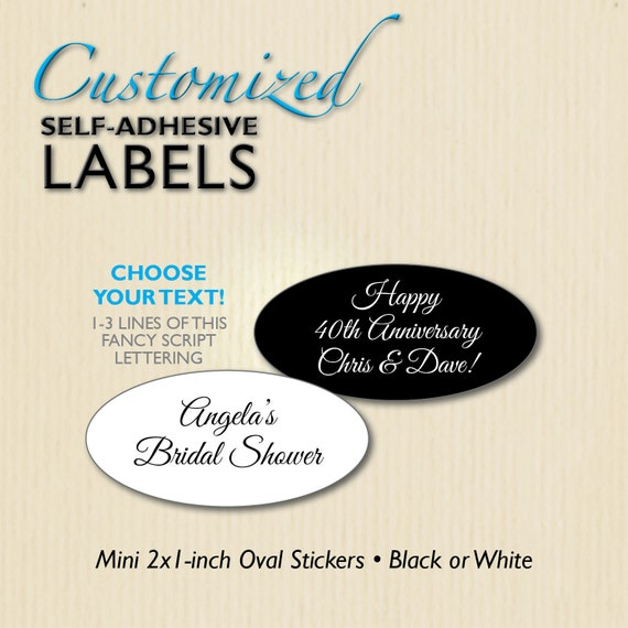 custom script 2x1 favor labels bridal shower wedding etsy
