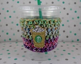 Crochet Cup Cozy, Crochet Cup Sleeve, Cup Warmer, Starbucks Cup Cozy, Tea Cup Cozy, Feltie, Frappe Cup Cozy, Travel Cup Cozy, Reusable Cozy