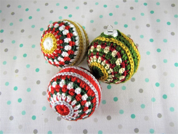 Crochet Pattern CHRISTMAS TREE BAUBLE TRIM Xmas Ornament Decoration Trim Festive