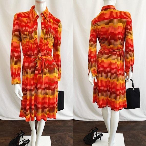 Vintage 70s Midi Shirt Dress - image 3