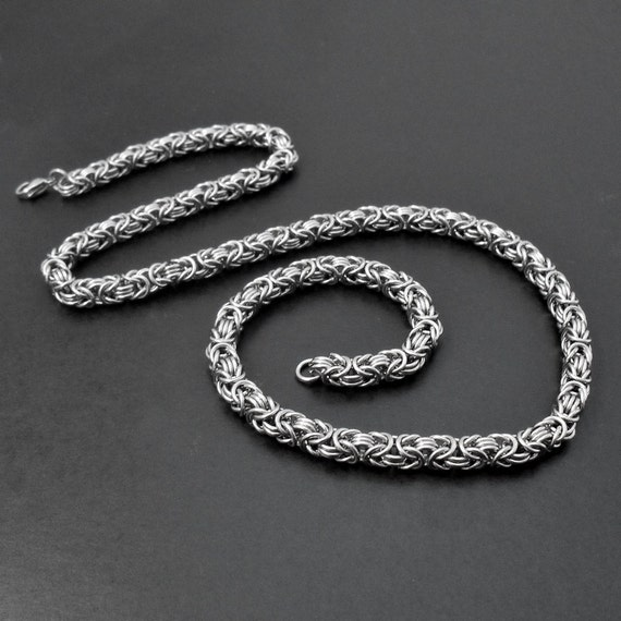 on sale stainless steel Fashion Snake Chain Necklace 5mm 21.6/'/' Silver Tone