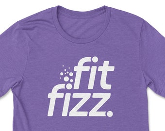 FitFizz Logo T-shirt • Unisex Fit Branded FitFizz Tshirt with Short Sleeves