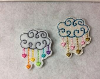 Rain cloud Feltie  Two to Choose   Always precut
