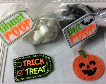 Halloween Bag Toppers   4 to Choose