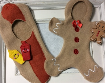Outfit  for One of Santa's elves  Gingerbread  or Hot Dog