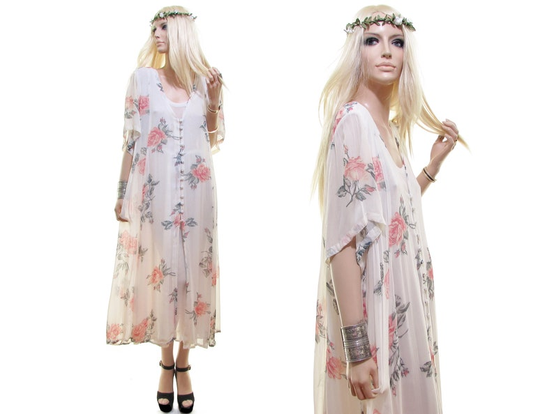 d04a00349f18 PINK ROSE gauze dress hippie dress india dress india gauze