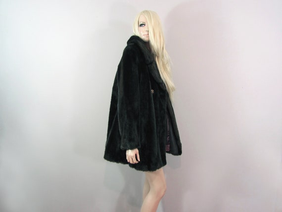 70s faux fur coat TISSAVEL COAT made in FRANCE 70s