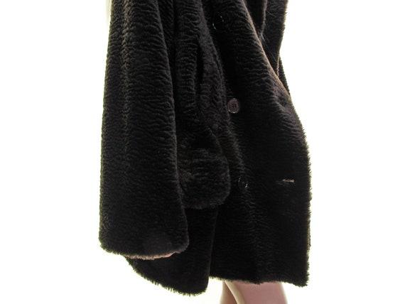 SOFT TEDDY BEAR fur coat faux persian lamb fur co… - image 6