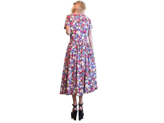 tea party dress m dress 90s dress 90s daisy pink hipster dress dress floral dress dress dress deadstock vintage purple grunge tea grunge qwwvf4p