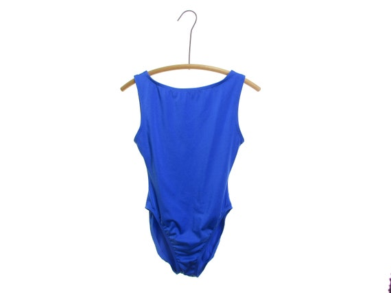 ROYAL blue Swimsuit 90s Leotard Aerobics Leotard 1