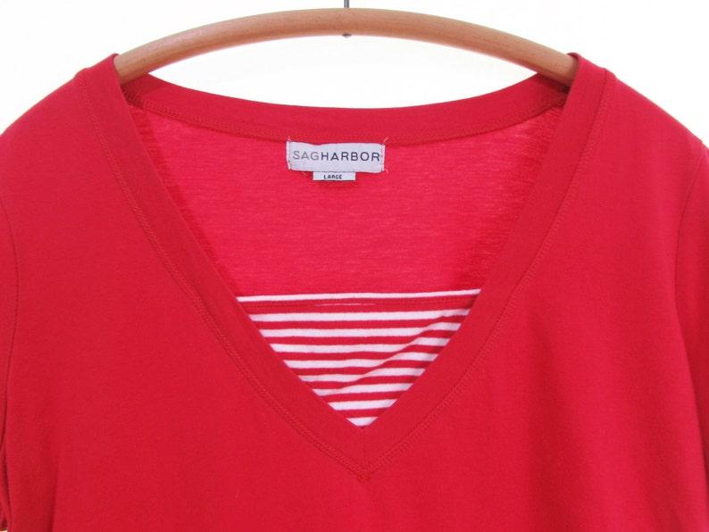 ab0b8d0ca90c3d KANGAROO POCKET tee striped top red white stripes t shirt