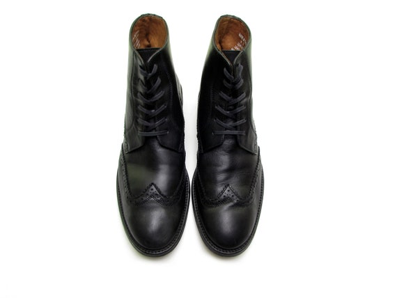 Italian leather boots brogue boots oxford boots la