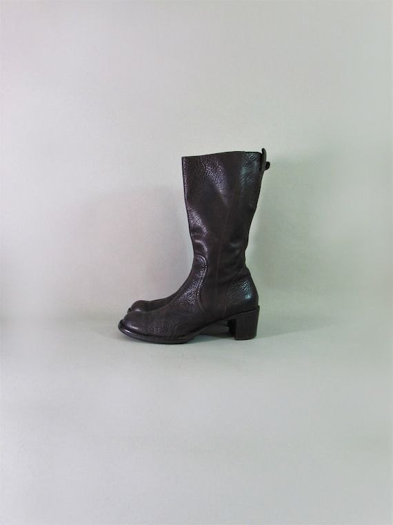 COSTUME NATIONAL boots chunky heel boots tall boot