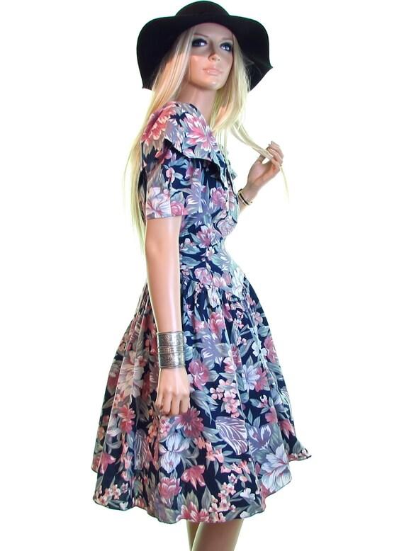 80s prom dress, 1980s prom dress, floral prom dres