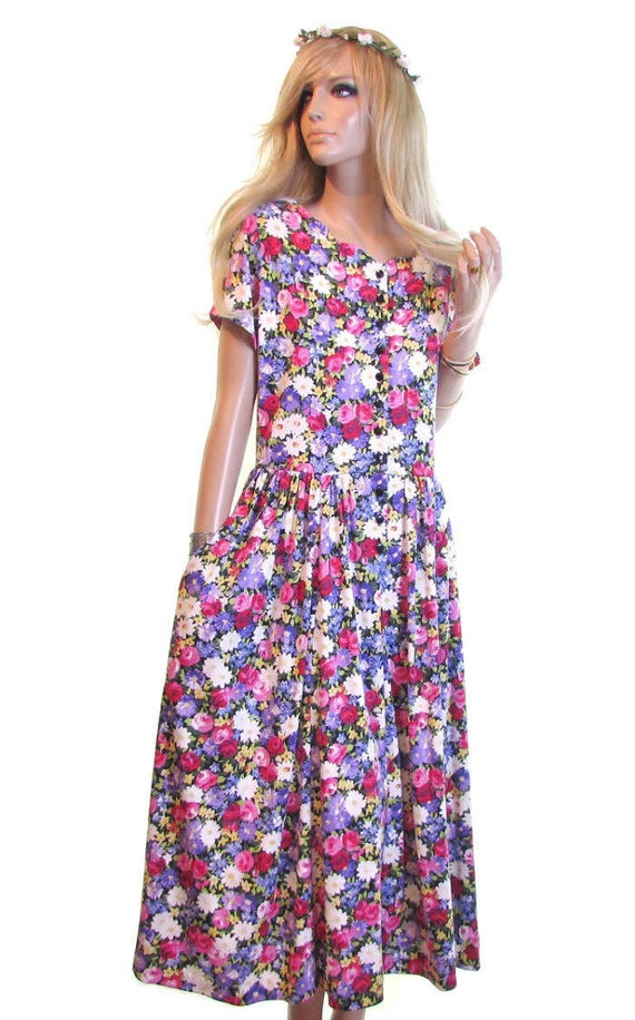 grunge deadstock pink floral dress dress grunge tea vintage dress dress dress dress hipster 90s purple 90s tea dress party daisy m dress wXZRxq6t