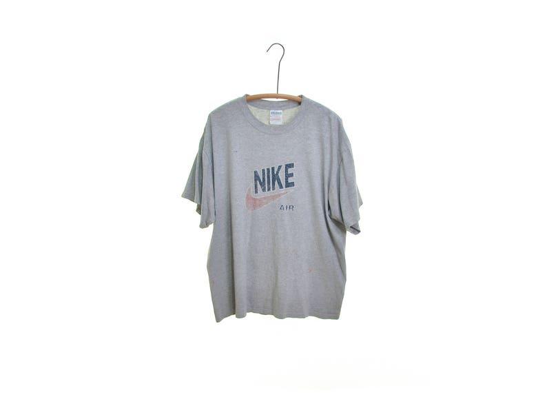 65660f4aad03e THRASHED t shirt Nike Shirt NIKE SWOOSH t shirt Nike tshirt gray tshirt  thin t shirt thin t-shirt distressed shirt 90s tshirt tee shirt xl