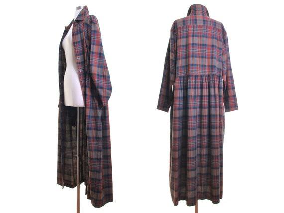 scotch plaid dress plaid duster plaid maxi dress 9