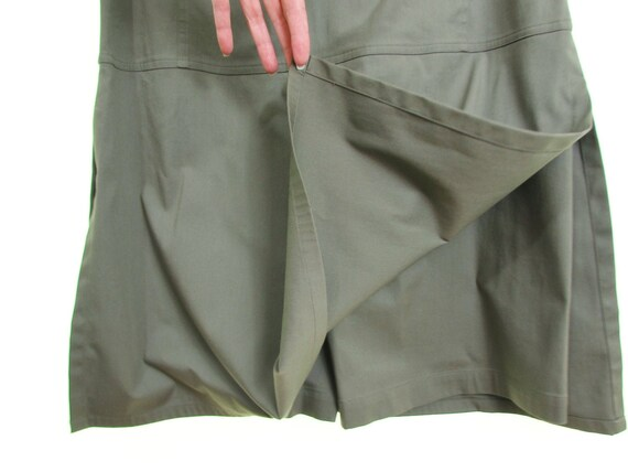 vintage 90 skort dress Olive Green cotton skort dr