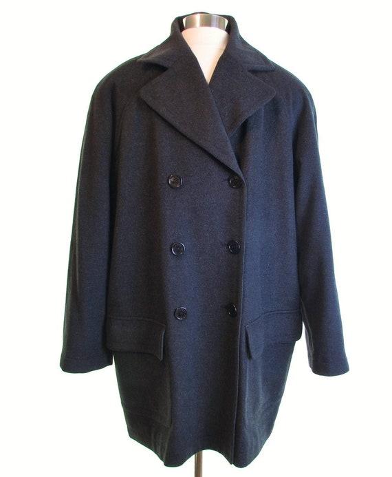 FINE LUXURY cashmere coat men peacoat pea coat PUR