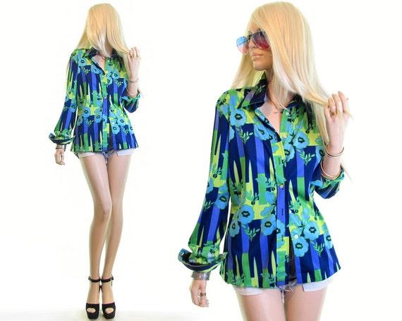 70s disco shirt 70s psychedelic shirt trippy shirt